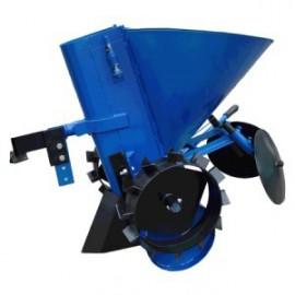 Картофелесажалка механизированная КСМ-2 (с транспортировочными колесами) к мотоблокам